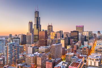 Fototapete - Chicago, Illinois, USA Skyline