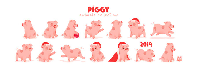 Pig is the symbol of Chinese 2019 new year on the Eastern calendar.