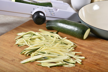 Julienned zucchini squash