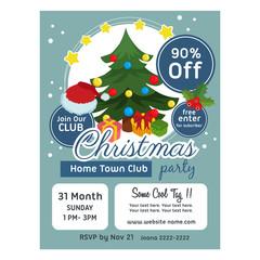 cute christmas poster template christmas tree