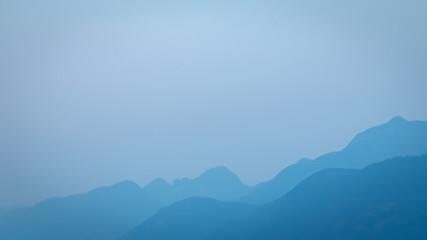 Silhouette of coastal mountain range