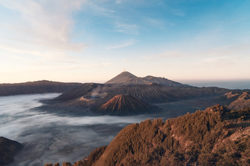 The sunrise of the Bromo volcano