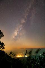 Landscape of The Milky Way Star beautiful sky.