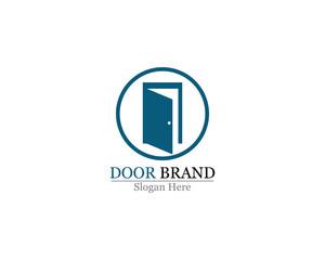 door  vector logo template illustration