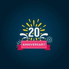Anniversary for celebrate design