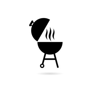 Black BBQ Barbecue Party logo