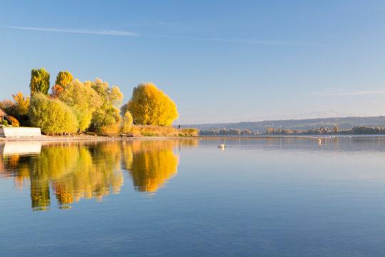 Herbstnachmittag am Bodensee in Allensbach
