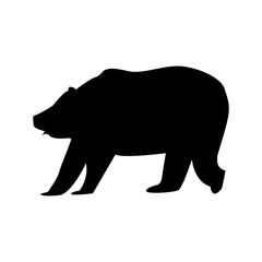 siluette bear