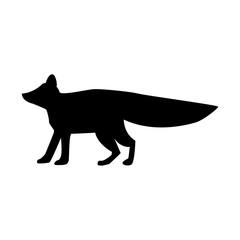 siluette fox