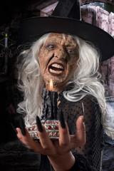 Dark witch. Fantasy Portrait
