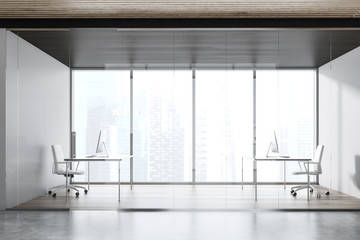Panoramic manager office interior