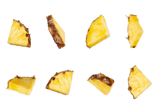 set of pineapple slices