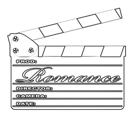 Romance Clapperboard Outline