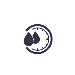 humidity vector icon, water level control sign