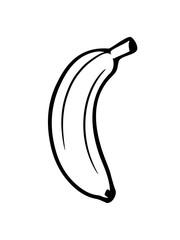 banane obst lecker gesund essen bananenschale krumm clipart cartoon comic design