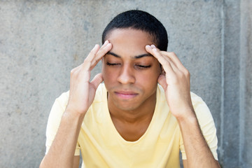 North african man with painful headache