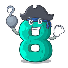 Pirate raster version cartoon shaped Number Eight
