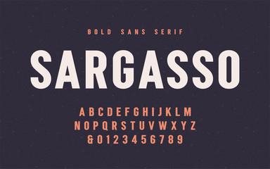 Sargasso bold san serif vector font, alphabet, typeface Wall mural