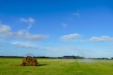 tractor in field, beautiful photo digital picture, in Sweden Scandinavia North Europe
