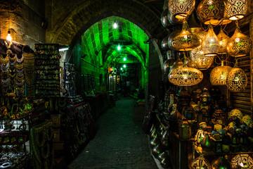 lantern bazaar in the egypt night