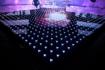 LED screen at a concert close-up.