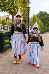Children in national vintage Dutch costumes.