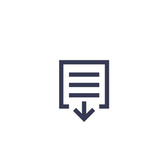 document download icon on white