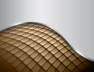 Abstract background 3D brown and grey with mosaic pattern