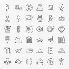 Handmade Line Icons Set