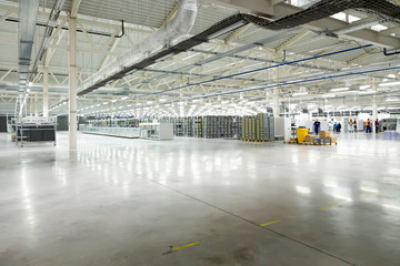 Large huge warehouse with a huge stocks
