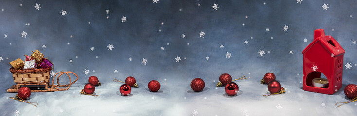 Happy Merry Christmas image. Abstract holidays image with some Christmas decor