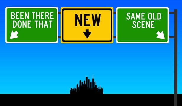 same old scene versus new life