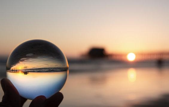 Glass Ball at Beach