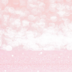 pink bokeh lights abstract background