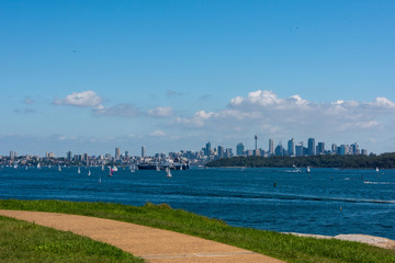 View from Lady Bay to Sydney City