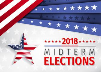 USA ELECTION 2018. VOTE Nov 6 2018. 2018 Midterm Congressional Elections.