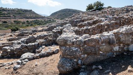 Ancient remains of Dorian city-state at Lato, NE Crete