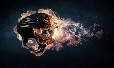 Burning sport helmet