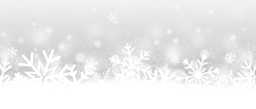 Snowflakes banner