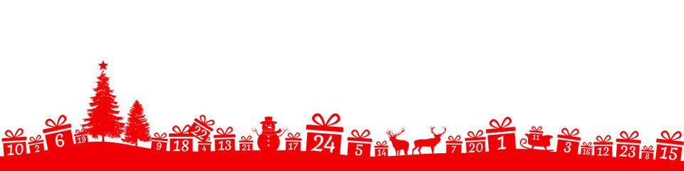 Fototapeta Advent calendar with gifts and decorations obraz
