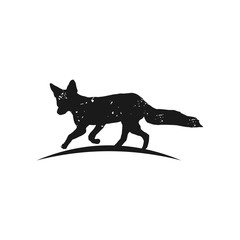 Rustic Fox logo inspiration, Fox silhouette vector