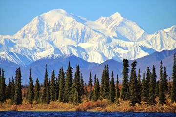 Denali in Alaska, is the highest mountain peak in North America.