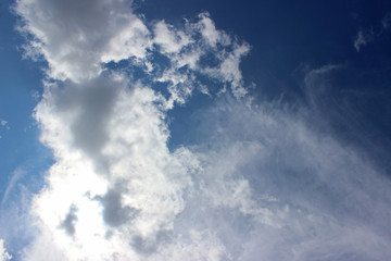 Clouds blue sky sun