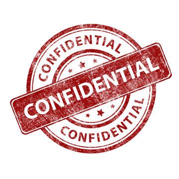 Red stamp grunge confidential