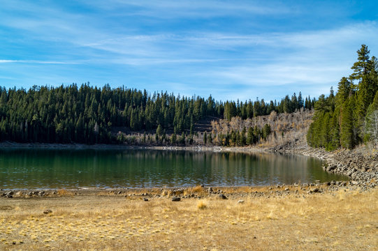 Crater Lake near Susanville, California in the Lassen National Forest