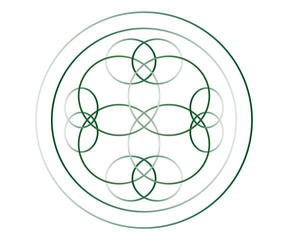Green Gradient Knotwork 1