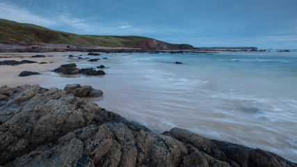 Soft Evening Light at a Beautiful Beach at the Coast of Pembrokeshire, Wales, UK