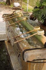 Fontaine de purificaion au Japon