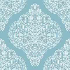 Vintage vector seamless pattern, wallpaper. Elegant classic texture. Luxury ornament. Royal, Victorian, Baroque elements. Great for fabric and textile, wallpaper, or any desired idea.