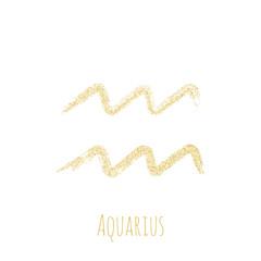 fb3b077e0 Aquarius zodiac sign, horoscope symbol vector.